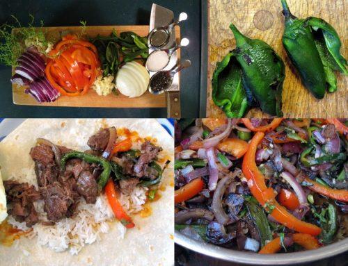 פהיטה טקס מקס בבישול איטי      Carne Con Rajas